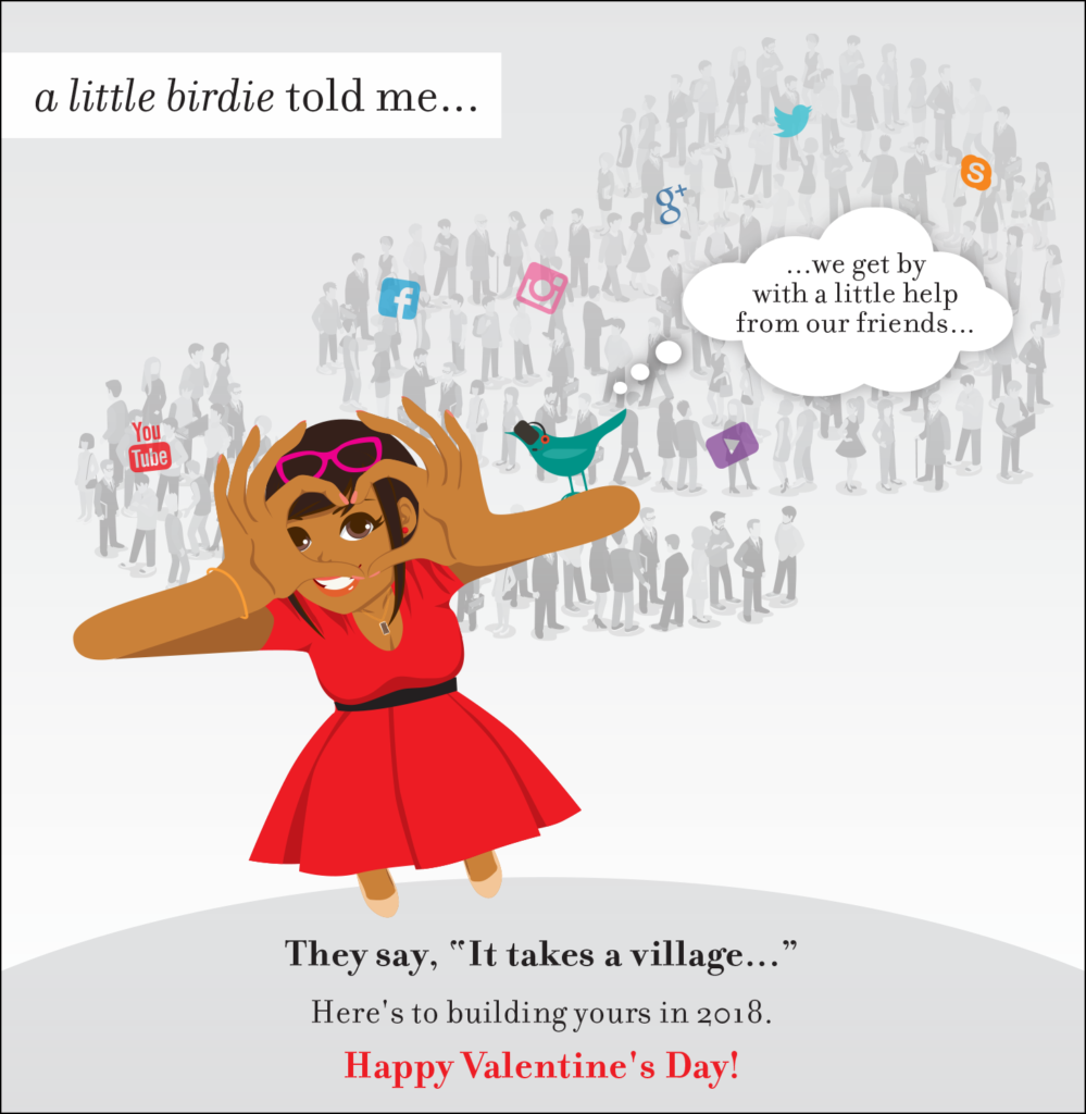 Valentine's Day e-card from Shonali and the Birdie