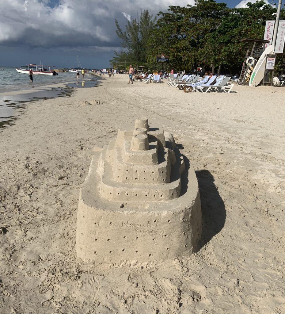 sandcastle in Negril